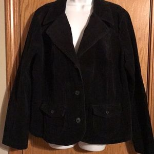 Sonoma size 1X black corduroy jacket